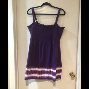 22/24 plus purple tye dye babydoll tunic summer